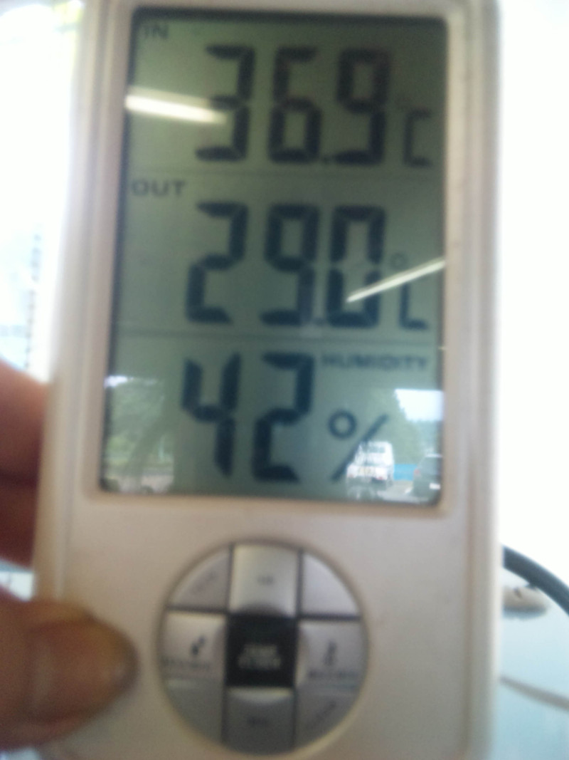 暑ーい日でした